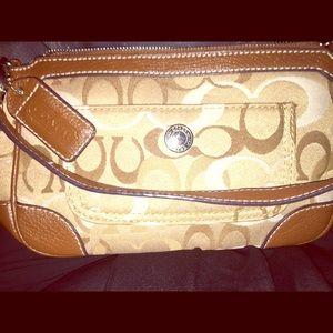 Coach Baguette Clutch handbag